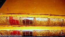 BOSWELL'S LIFE OF JOHNSON -(2 vols) 1826 print LEATHER OXFORD volumes 2 & 3,