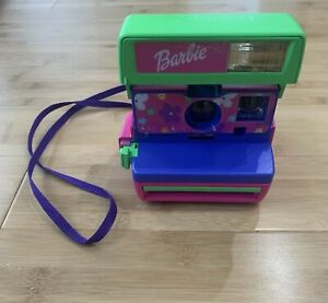 Vintage Barbie Polaroid 600 Instant Instamatic Camera w/ Strap - Ships Fast