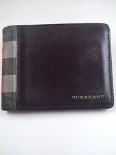 GREAT $360!!! Burberry wallet bifold check plaid black 100% Authentic!