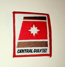 Vintage Central Gulf Lines Shipping Vessel Company Intermodel Patch New NOS 80s
