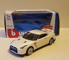 Boys Toys Nissan Gt-r R35 White 1.43 Burago Diecast Model Car Boxed Dads