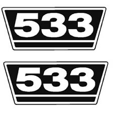 IHC Traktor Aufkleber 2xTypenaufkleber 533 Logo Emblem Sticker Label ca.21x9,5cm