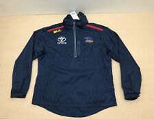 BLK ADELAIDE CROWS JACKET MENS ~ SIZE LARGE ~ NEW W/ TAGS COACHES ISSUED 1/4 ZIP