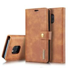 DG.MING Wallet Case Echt Leder 2in1 Hülle Tasche Braun für Huawei Mate 20 Pro