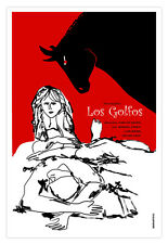 Cuban decor Graphic Design movie Poster.GOLFOS.Spanish Saura Art film.Spain