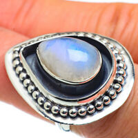 Large Rainbow Moonstone 925 Sterling Silver Ring Size 6.5 Ana Co Jewelry R43756F