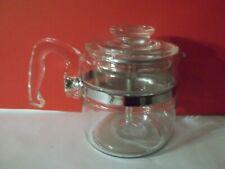 RARE Vintage 4 cup Pyrex Glass Flame Ware Percolator
