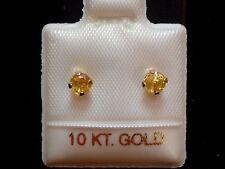 Gelbe Saphir Ohrstecker - 3,5 mm - 10 Kt. Gold - 417 - Ohrringe Brillant Schliff
