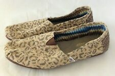 Toms Womens Flats Shoes Size 8.5 Animal Print