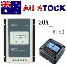 EPEVER 20A MPPT Solar Charge Controller 12V/24V Auto PV 100V Li-Battery + MT50