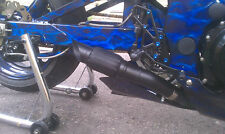 1999 - 2007 GSXR 1300 Hayabusa exhaust slip on Shorty RLS Exhaust Chaos Black