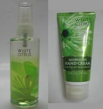Authentic US Bath & Body Works WHITE CITRUS 88mL mist &  hand cream 59mL