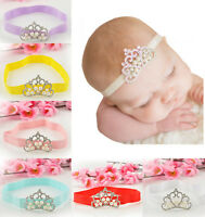 Baby Kids Infant Toddler Girl Princess Crown Pearl Headband Hairband Headwear