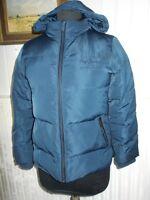 Blouson doudoune polyester bleu PEPE JEANS  Miriam 14 ANS plumes/duvet capuche