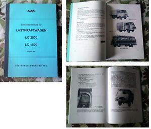 LO1800 LO 2500 Betriebsanleitung LKW IFA Robur LO 1800 & LO 2500