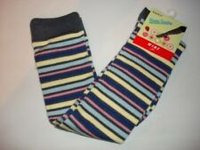 couture stripped knee high womens socks gray yellow new