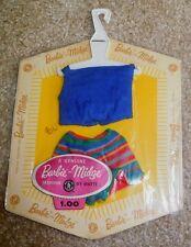 Vintage Barbie PAK Royal Blue Knit Halter Top, Stripe Shorts MIP