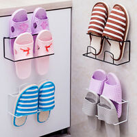 CW_ AU_ Wall Door Mounted Hanging Shoes Hook Shelf Rack Organizer Storage Holder