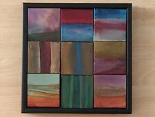 Original contemporary painting / collage from mini paintings signed by artist