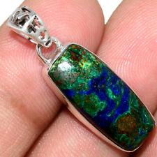 Azurite In Malachite - Morenci Mines 925 Silver Pendant Jewelry AP211563