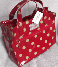 BNWT! REDUCED! CATH KIDSTON BOX BAG.BERRY RED SPOT.OILCLOTH.GREAT GIFT!