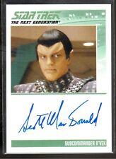 Star Trek Die Next Generation Scott Macdonald Autogramm
