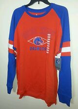 Boise State Broncos Orange Shirt With Blue Jersey Looking Sleeves Men Large NWT