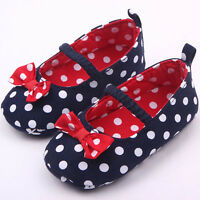 NEW Baby Girl 4th of July Blue Red Mary Jane Ballet Crib Shoes 0-6 6-12 12-18 M