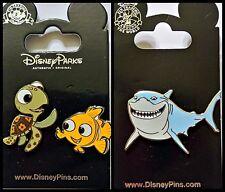 Disney Parks 3 Pin Lot FINDING NEMO + Squirt + Bruce shark