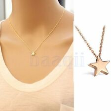 Gold Plated Chain Charm Star Pendant Necklace Choker Jewelry For Girl Women MA
