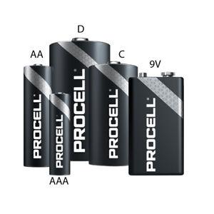 Duracell Procell Professional AA AAA C D 9V Alkaline Battery Heavy Duty
