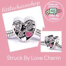 Authentic Genuine PANDORA Silver Struck By Love Charm - 792039CZ RETIRED
