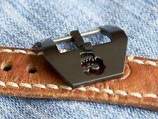 20mm Uhren-Schließe Buckle schwarz Totenkopf Skull Neu perfekt f Vintage Straps