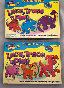 Trend Prehistoric Pals And Animal Friends Lace, Trace  'n Play