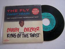 EP 4 TITRES VINYL 45 T CHUBBY CHECKER , THE FLY . VG+ / VG . COLUMBIA 1391 .