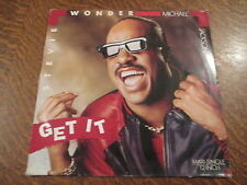 maxi 45 tours stevie wonder & michael jackson get it