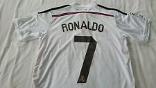 Real Madrid 2014 home jersey - Ronaldo 7 on back of jersey in mint condition