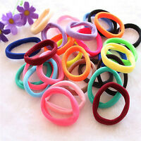 50Pcs Women Girls Hair Band Ties Rope Ring Elastic Hairband Ponytail Holder TB
