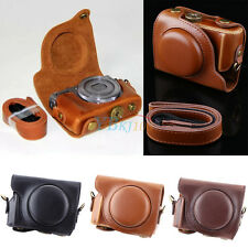 Brown/Coffee/Black PU Leather Case Strap Bag For Canon Powershot G9 X Camera