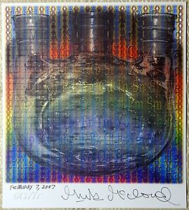 Mark McCloud Signed Spectrum Synthesis Blotter Art Rafti