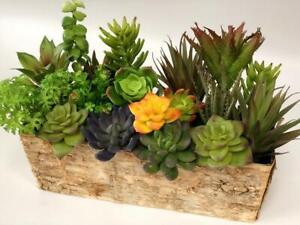 set of 2-6inches Long Fake Succulent Soft Succulent Stem-S065