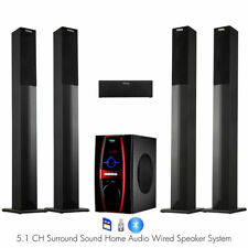 Frisby FS-6600 5.1 Surround Sound Home Theater Tower Speaker System w/ Bluetooth