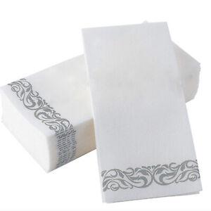 100 PCS Disposable Cocktail napkins Disposable Hand Towels Soft Guest Towels