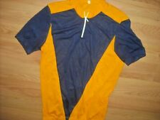 VTG 80S MENS XL BLUE AND YELLOW CYCLING RACING JERSEY SHIRT