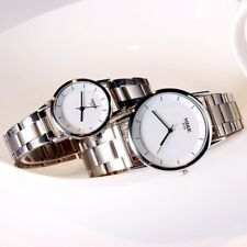 Popular Simple Round Face Men`s & Women`s Stainless Steel Quartz Wrist Watches