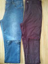 Bonito 2x nuevo aspecto paquete señoras para mujer Skinny Leggins Pantalones Tamaño 14 (0.6)
