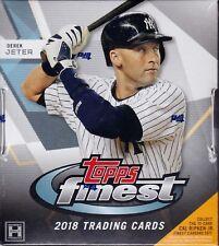 2018 Topps Finest Baseball sealed hobby master box 12 packs 5 MLB cards 2 auto