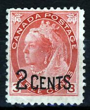 CANADA Queen Victoria 1899 2 Cents Surcharge on 3c. Rose-Carmine SG 172 MINT