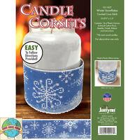 Plastic Canvas Kit ~ Janlynn Winter Snowflakes Candle Corset #021-1827