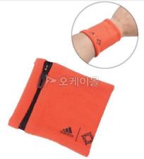 adidas Climate Running Wristband with Pocket, Orange